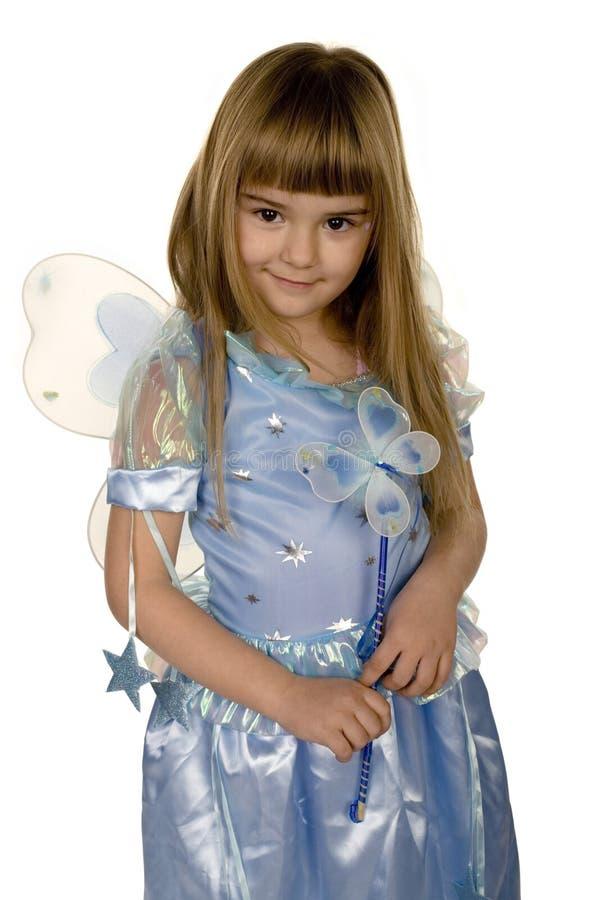 Blue fairy girl stock photography