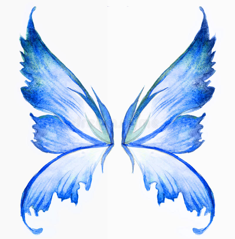 Blue fairy wings vector illustration