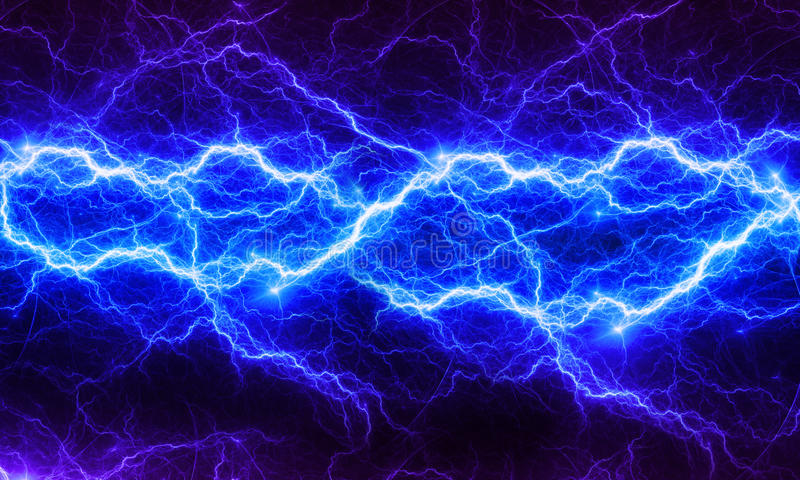 Blue fantasy fractal lightning royalty free illustration