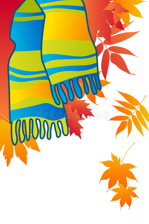 Download Blue fashionable scarf stock vector. Image of fall, scarf - 18172138