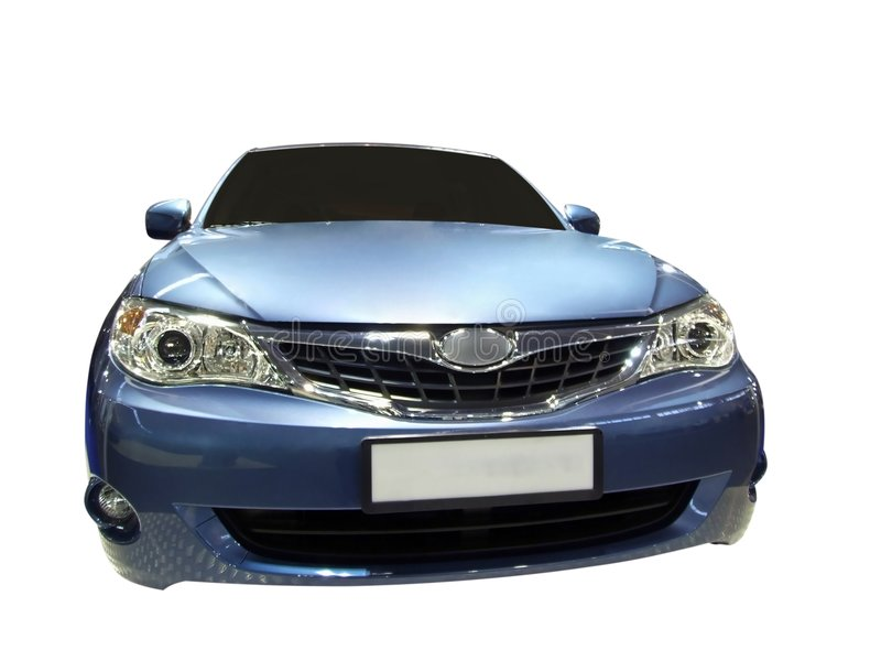 Blue fast car royalty free stock photography