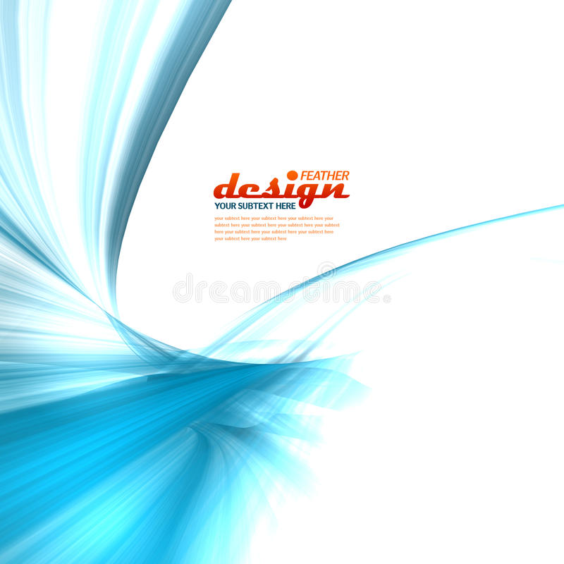 Blue feather design concept