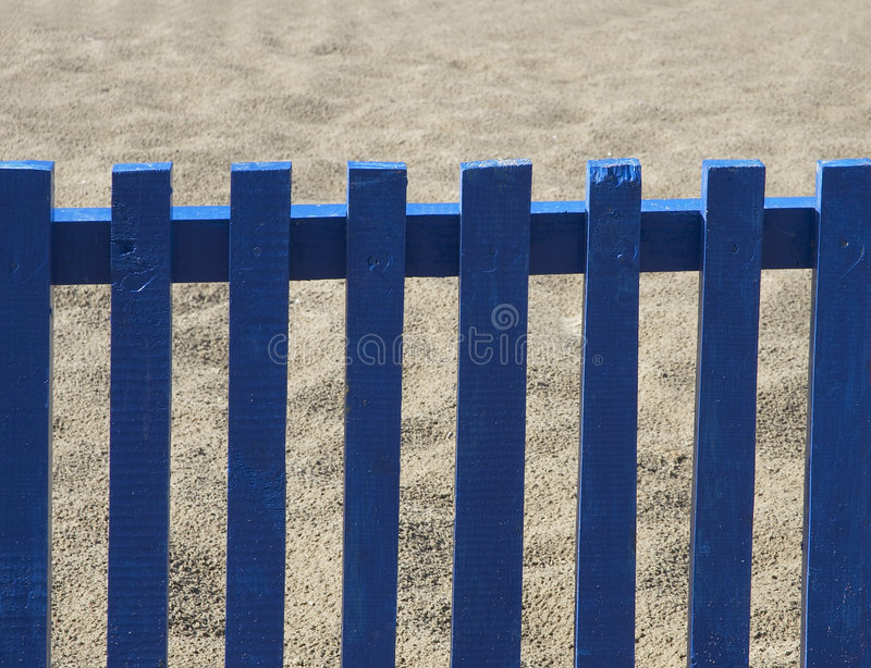 Download The blue fence stock photo. Image of enclose, beach, small - 169692