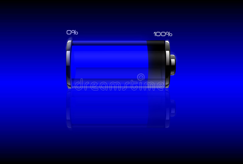 Download Blue filled battery stock vector. Image of stirring, voltaic - 8004453