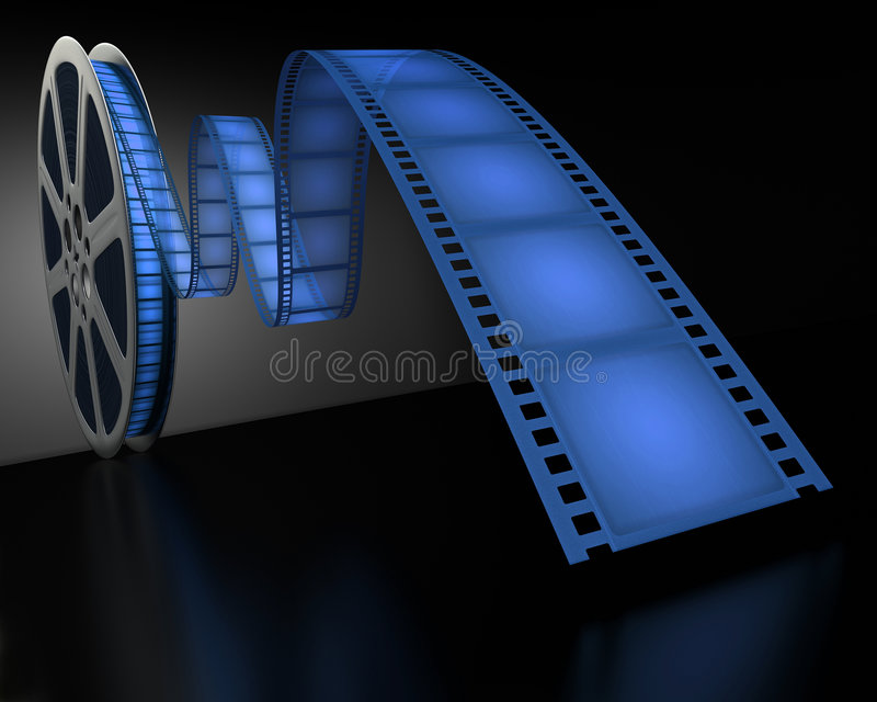 Blue Film Reel stock illustration