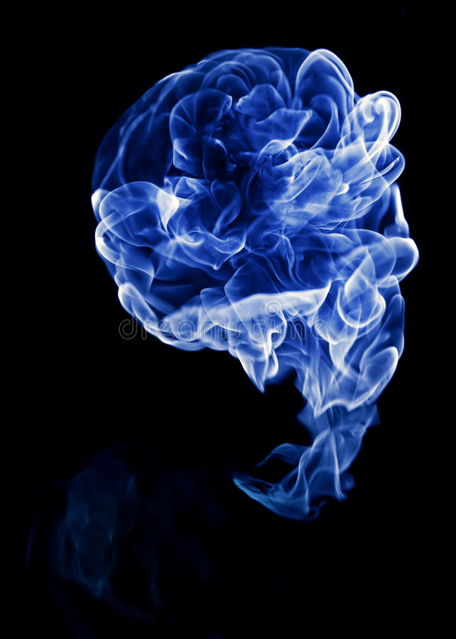 Blue fire royalty free stock photos