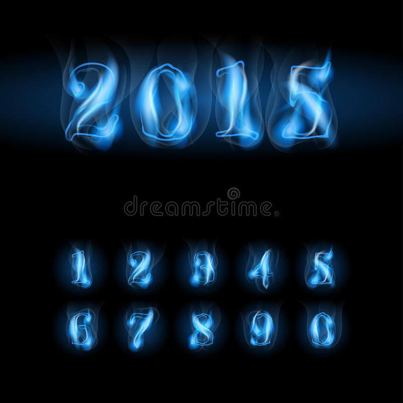 Free Blue Fire Numbers Stock Photos - 42918993