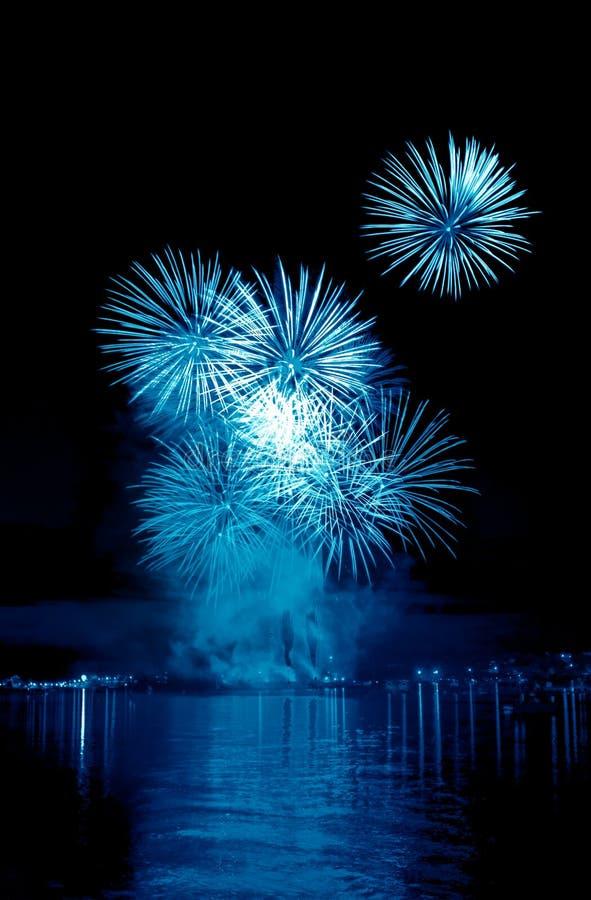Free Blue Firework In A Night Sky Stock Photo - 31616740