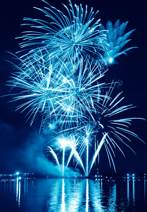 Free Blue Firework In A Night Sky Stock Image - 31616751