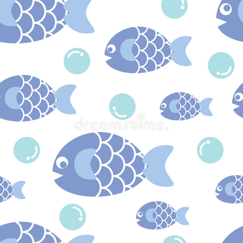 Blue fish royalty free illustration