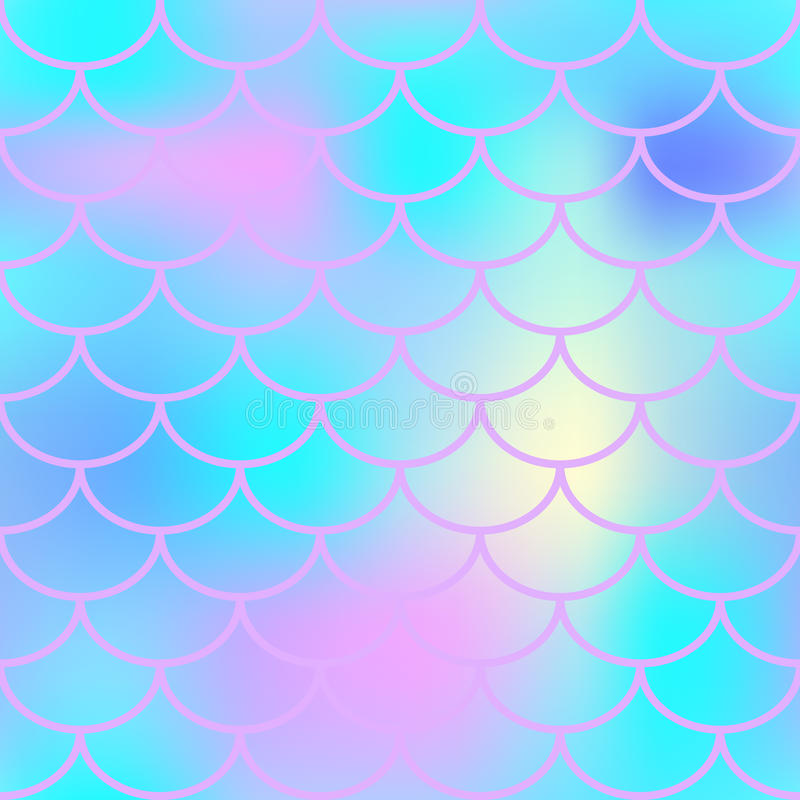 Blue fish skin with scale pattern. Mermaid background. stock illustration