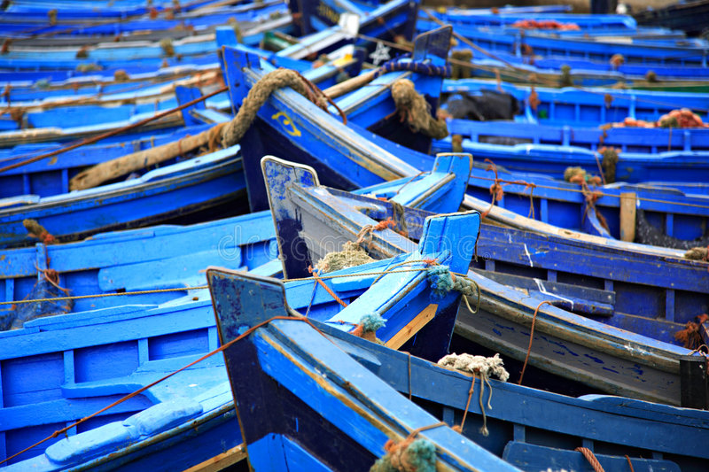 Download Blue fishing boats stock photo. Image of intricate, painted - 2117264