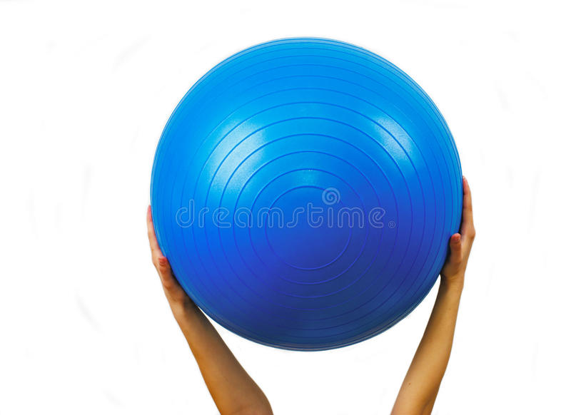 Blue fitball royalty free stock images