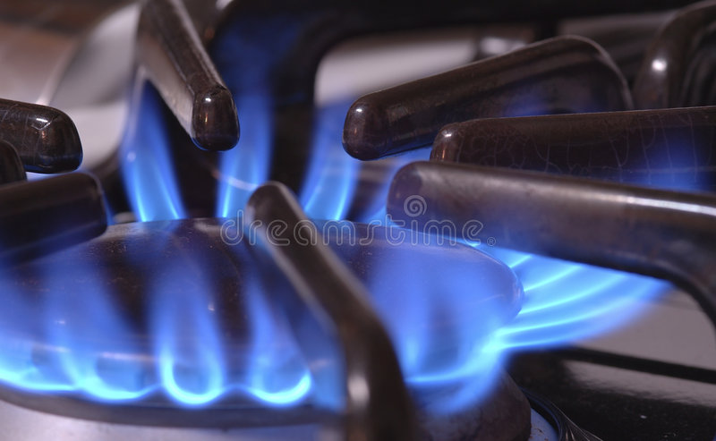Blue Flame royalty free stock photo