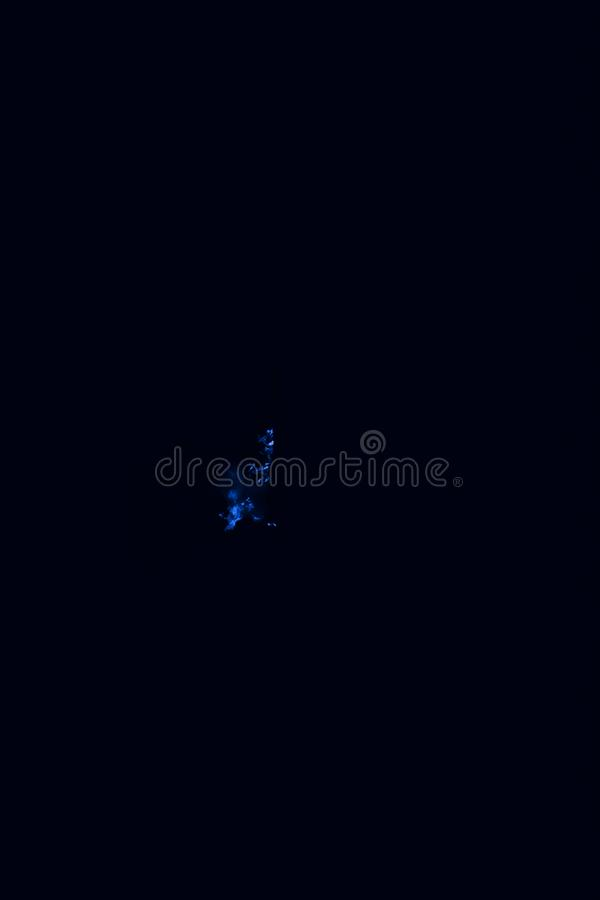 Blue flame. Burning of rice straw at night. Blue flame. Fire. Burning of rice straw at night royalty free stock photo