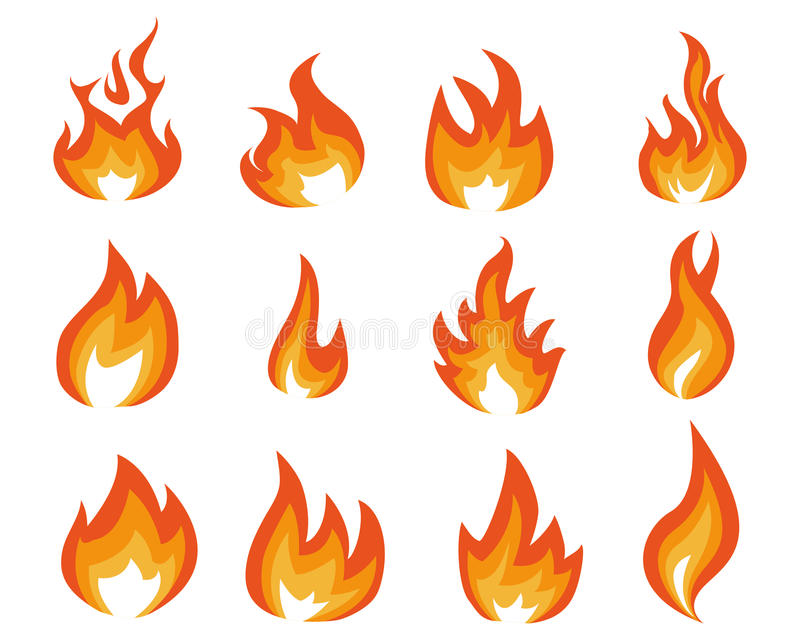 Blue flame energy royalty free illustration