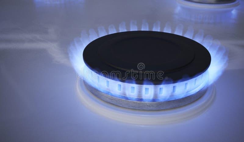 Blue flame from gas burner. 3D rendered illustration.  royalty free illustration