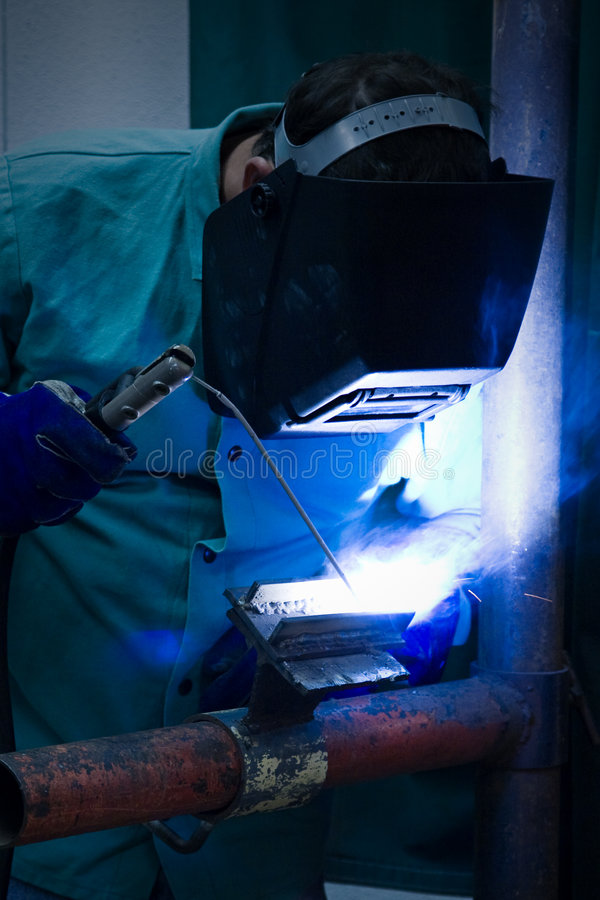 Blue Flame Welder royalty free stock images