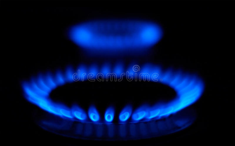 Blue flames royalty free stock photo