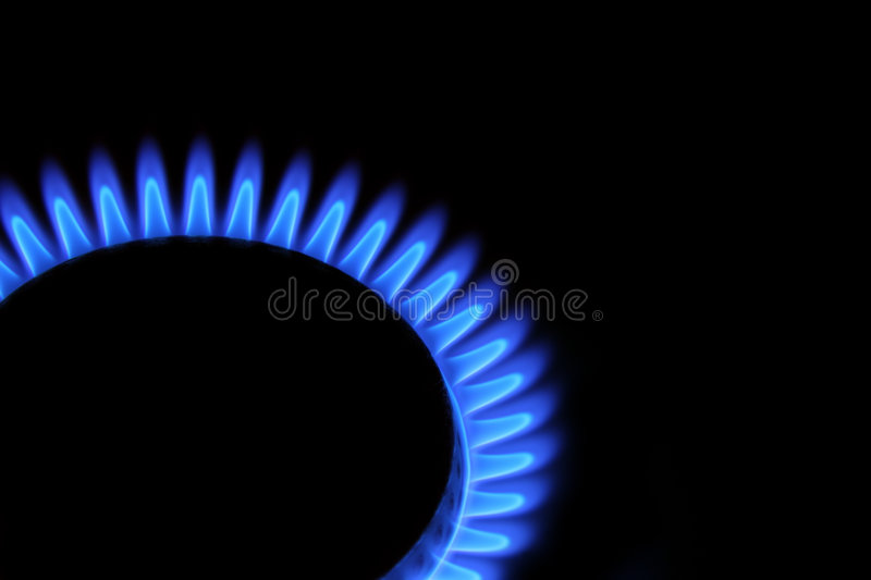 Blue flames stock images