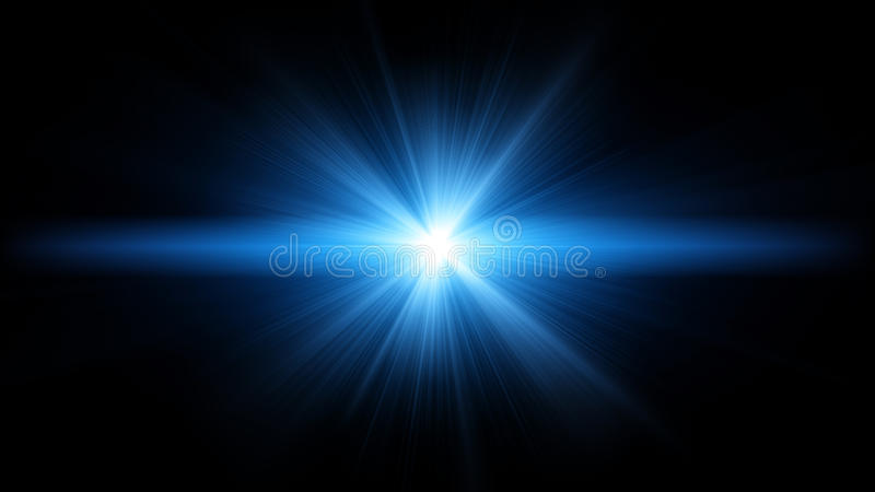Blue Flare Stock Photography