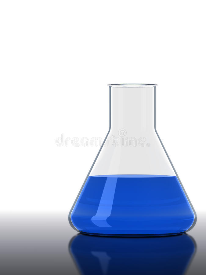 Blue Flask Stock Photography