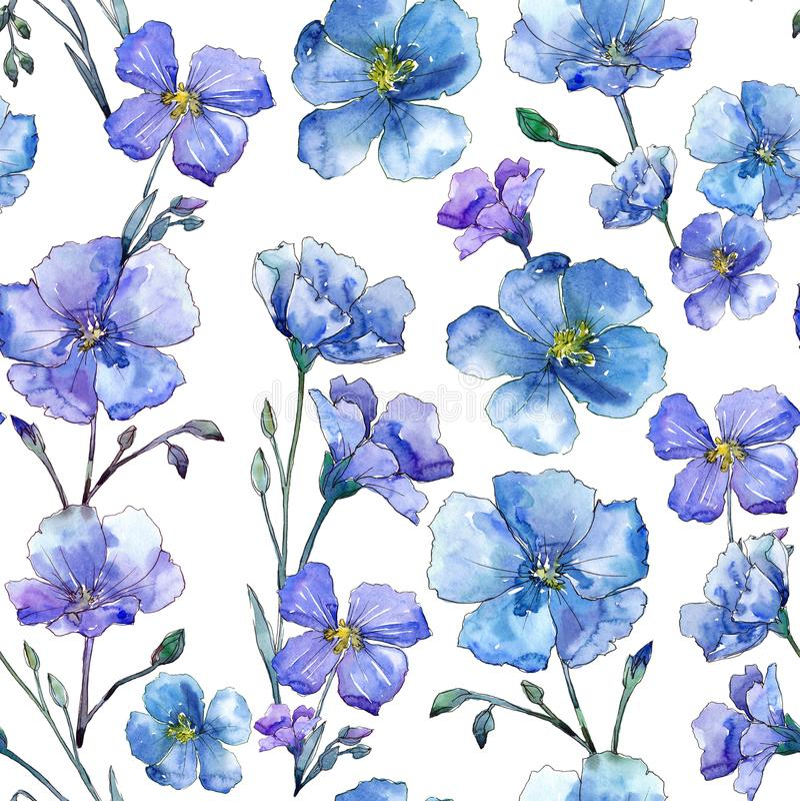 Free Blue Flax. Floral Botanical Flower. Wild Spring Leaf Wildflower Pattern. Stock Images - 116749794