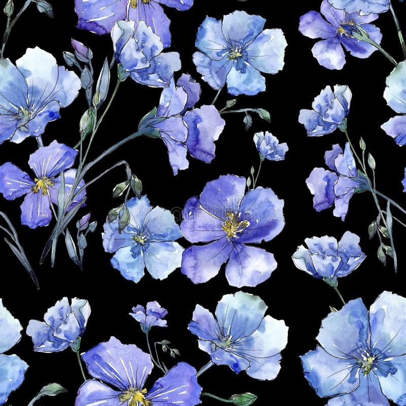 Free Blue Flax. Floral Botanical Flower. Wild Spring Leaf Wildflower Pattern. Royalty Free Stock Photos - 116803098