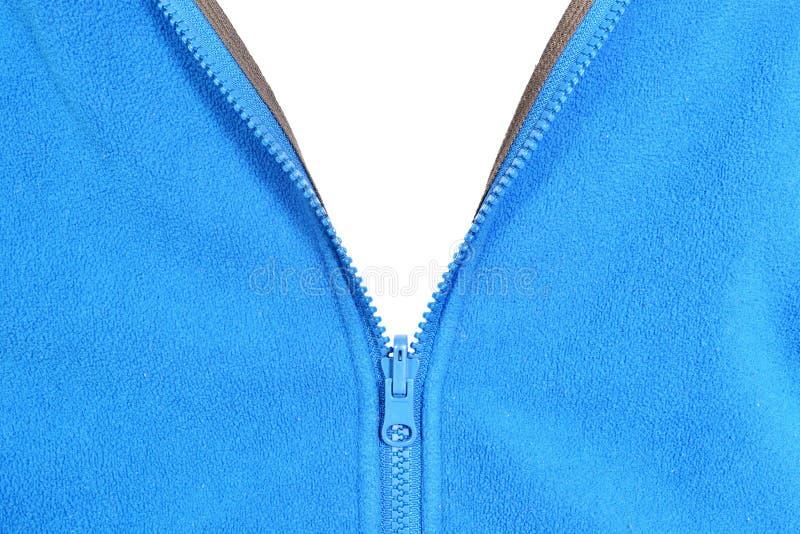 Blue fleece stock photo
