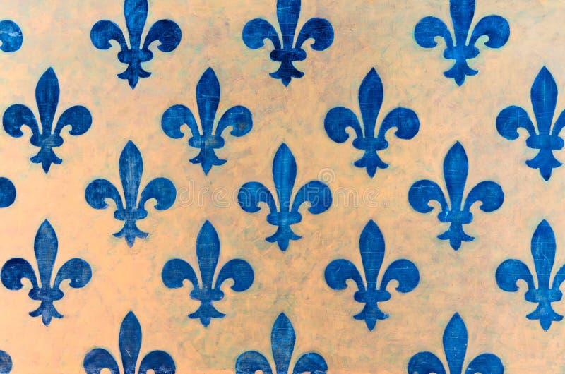 blue Fleur de lis wallpaper fleur-de-lis royalty free stock images
