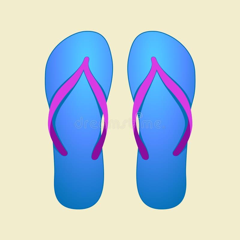 Download Blue Flip-Flops stock vector. Image of conceptual, wear - 21304873