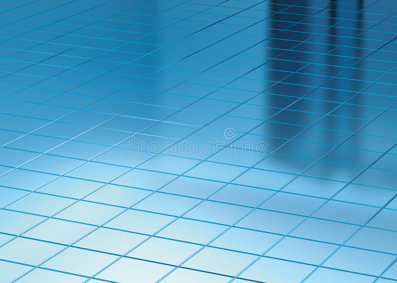 Download Blue Floor And Window Reflect Stock Illustration - Image: 24370051