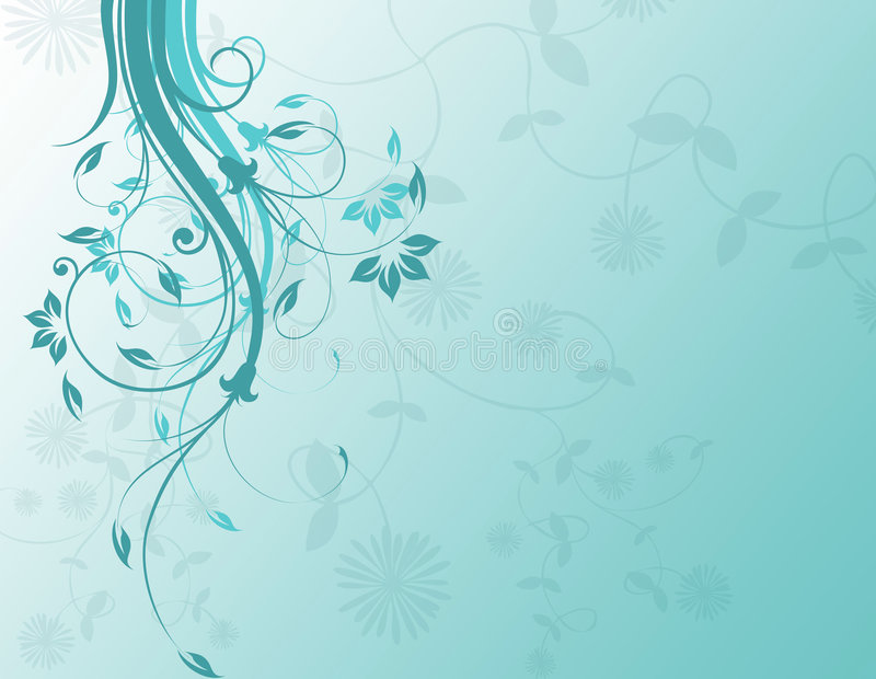 Blue floral background royalty free stock photo