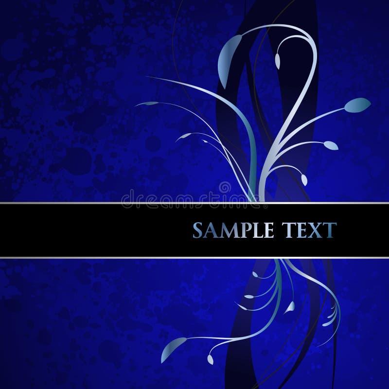 Download Blue Floral Banner Stock Image - Image: 12796681