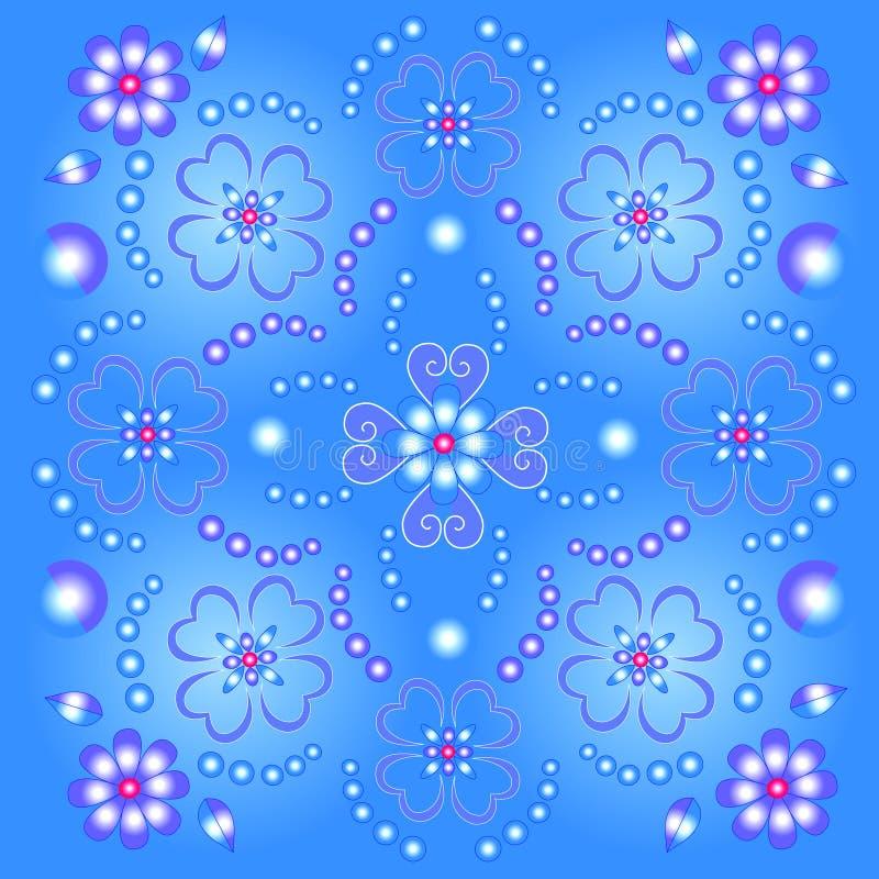 Blue floral Bckground vector illustration