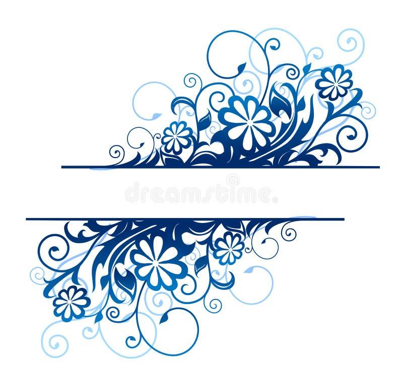 Download Blue floral border stock vector. Image of heading, leaf - 22850684
