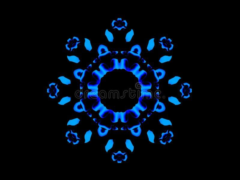 Download Blue Floral Mandala stock illustration. Illustration of leaves - 8512075