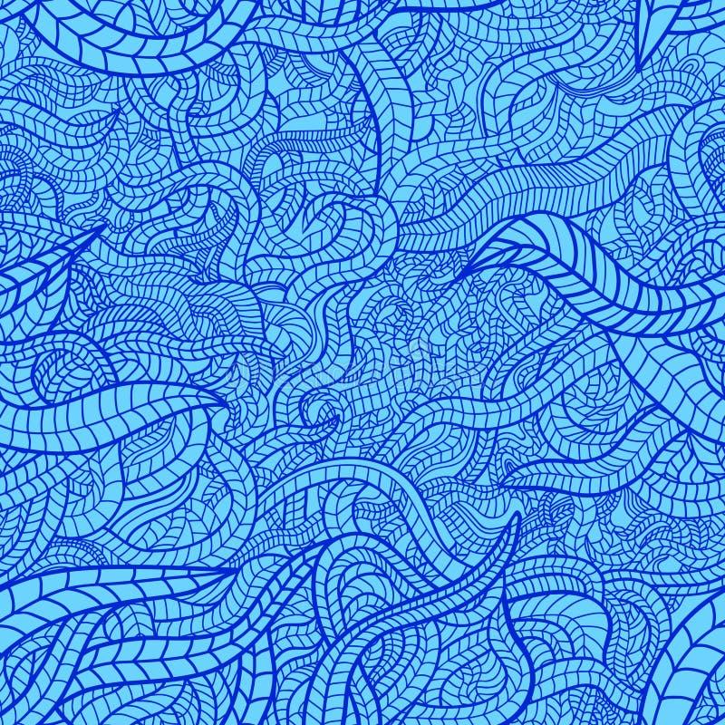 Blue floral seamless stock illustration