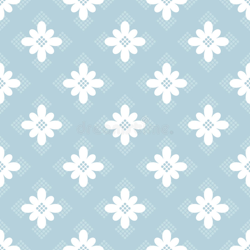 Blue floral seamless pattern vector illustration
