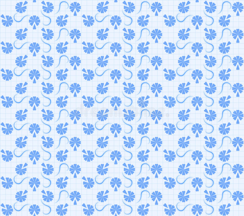 Free Blue Floral Texture Royalty Free Stock Image - 19653176
