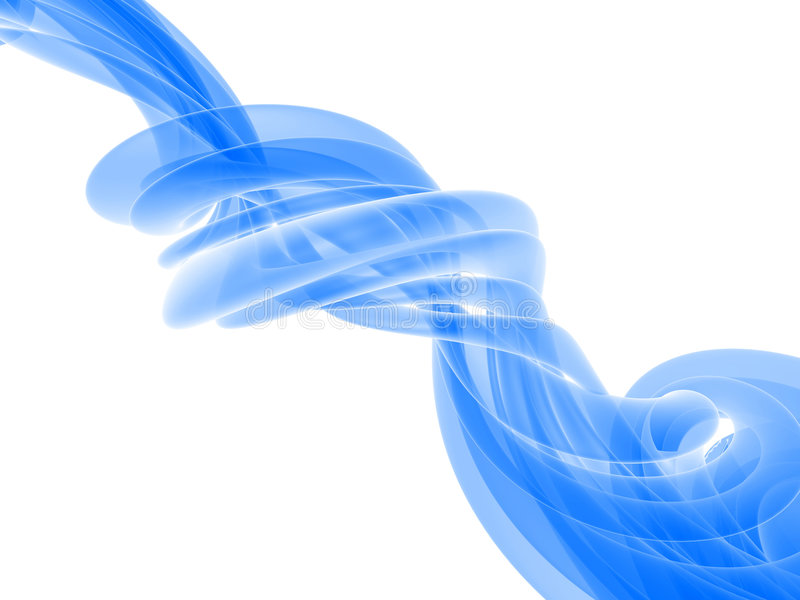 Blue flow. 3d rendered illustration of an abstract blue background stock illustration