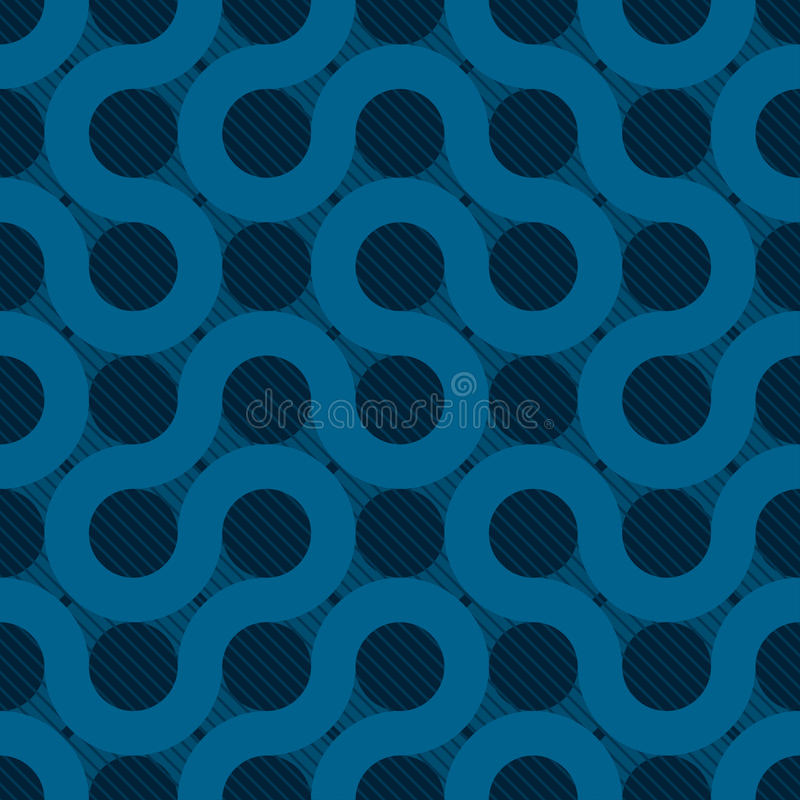 Blue flow background. Abstract blue flow background seamless pattern vector illustration