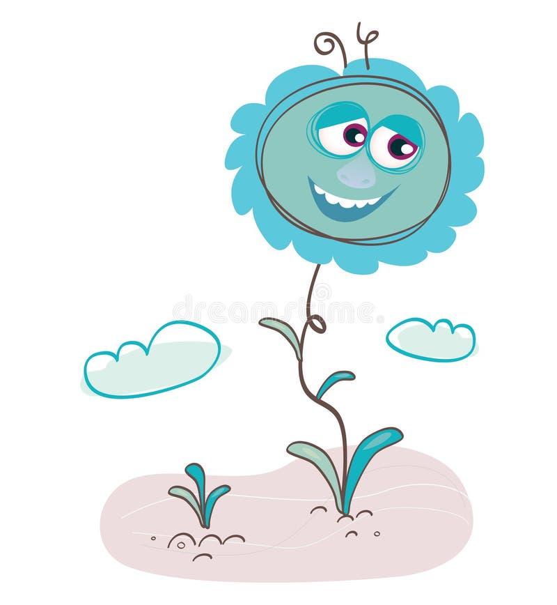 Blue flower vector illustration