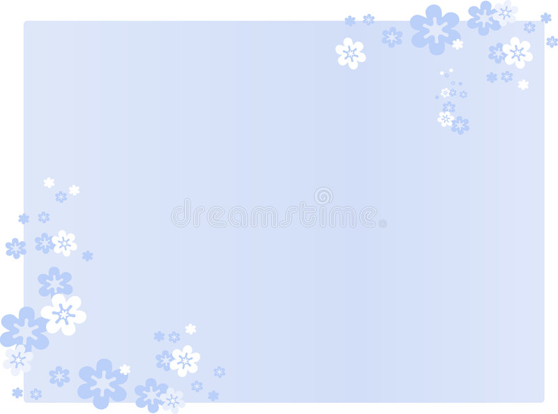 Blue flower background royalty free illustration