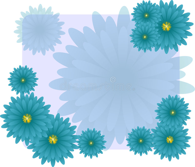 Blue flower background stock photography