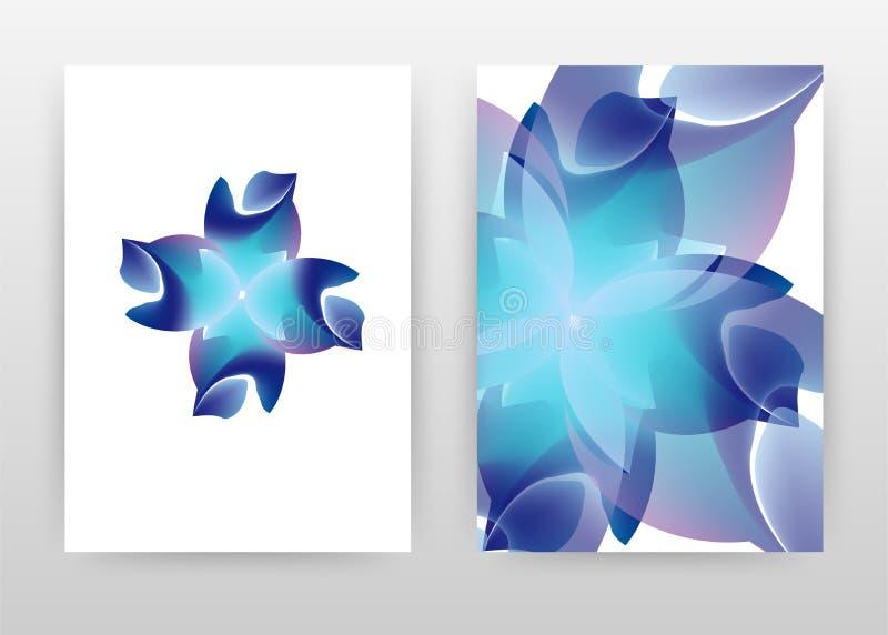 Blue flower concept petal design of annual report, brochure, flyer, poster. Blue flower concept white background vector. Illustration for flyer, leaflet, poster royalty free illustration