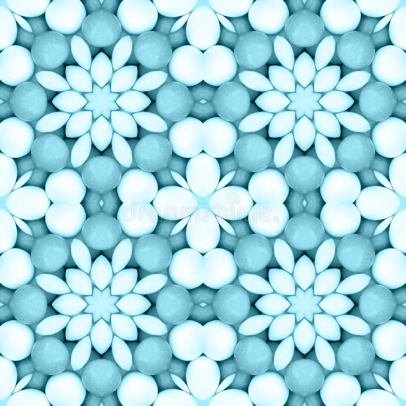 Blue flower mosaic detailed seamless textured pattern background. Blue flower mosaic detailed seamless and repeat textured pattern background royalty free stock photos