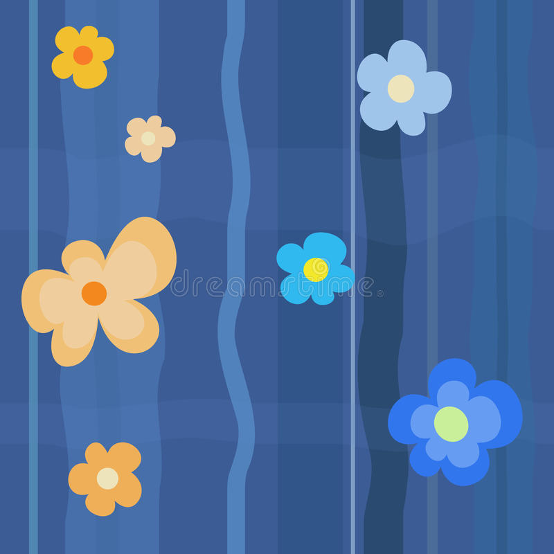 Blue Flower Pattern stock image