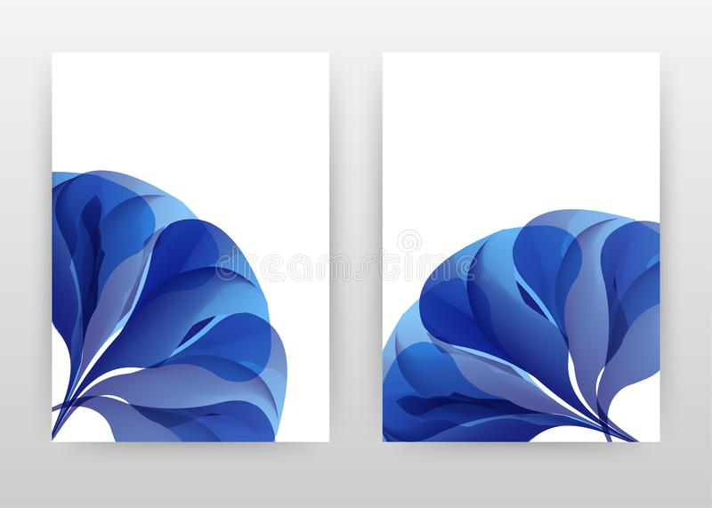 Blue flower petal concept abstract design of annual report, brochure, flyer, poster. Blue flower concept on white background. Vector illustration flyer, leaflet vector illustration
