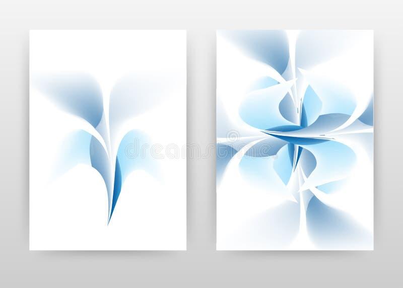 Blue flower petal design of annual report, brochure, flyer, poster. Blue flower concept on white background vector illustration. For flyer, leaflet, poster vector illustration